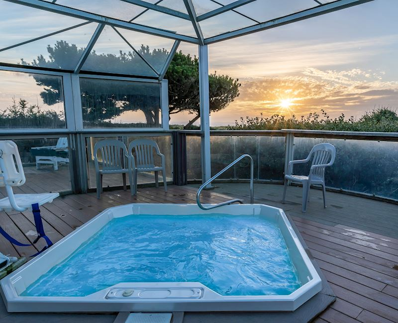 Beach view hot tub